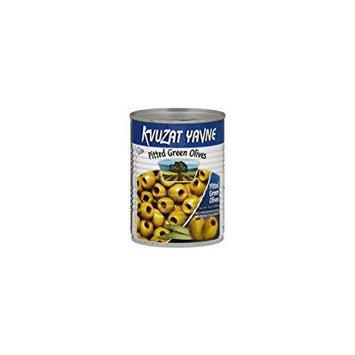 Kvuzat Yavne Pitted Green Olives Kosher KFP 19 Oz. Pack Of 3.