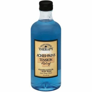 6 Pack - Village Naturals Therapy Aches & Pains Tension Relief Foaming Bath Oil + Body Wash 16 oz