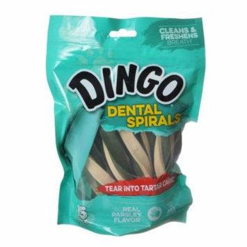 Dingo Dental Spirals Fresh Breath Dog Treats Regular - 15 Pack - Pack of 4