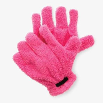 Top-Quality Microfiber Quick Hair Drying Gloves Hair Drying Towel -Pink