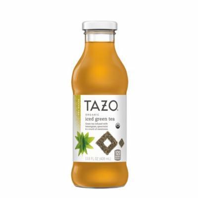 Tazo Organic Iced Tea, Green Tea, 13.8 Ounce Glass Bottles, 8 Pack