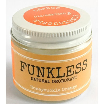 Funkless Natural Deodorant - Honeysuckle & Orange, 2.1 Oz.