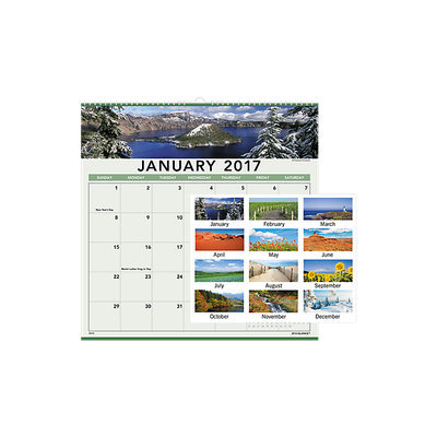 At-A-Glance® 2017 Landscape Monthly Wall Calendar (88200 17) - Wall Calendars