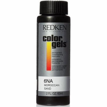 6 Pack - Redken Color Gels Permanent Conditioning, [6NA] Moroccan Sand 2 oz