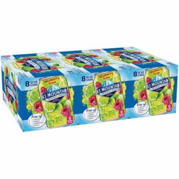 Ice Mountain Sparkling Natural Spring Water, Raspberry Lime, 12 Fl Oz, 24 Count