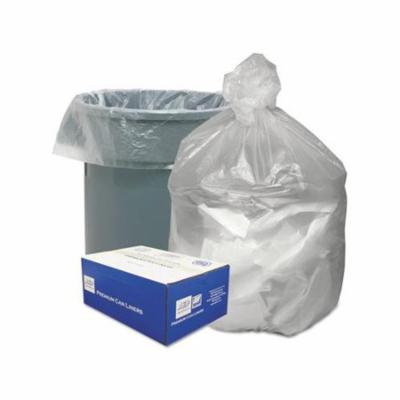 High Density Waste Can Liners, 3133gal, 9mic, 33 X 39, Natural, 500carton