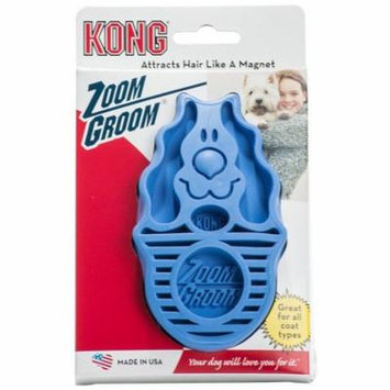 Kong ZoomGroom Dog Brush - Boysenberry Regular (For all Dogs) - Pack of 2