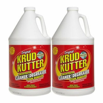 Krud Kutter KK012 Original Concentrated Cleaner Degreaser/Stain Remover with No Odor, 1 Gallon - 2 Pack