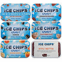 ICE CHIPS Xylitol Candy, Yummy Pack (6 Tins)