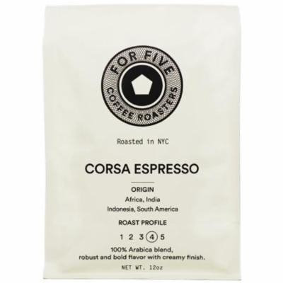 4 Pack - For Five Corsa Espresso Ground 12 oz