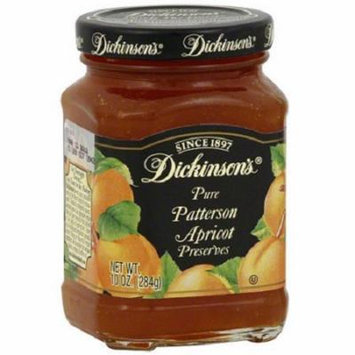 Dickinson Pure Patterson Apricot Preserves Case of 6 10 oz.