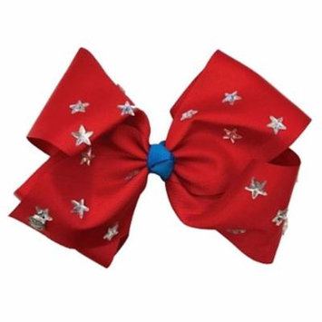 JoJo Siwa Large Cheer Hair Bow (Red with Stars)
