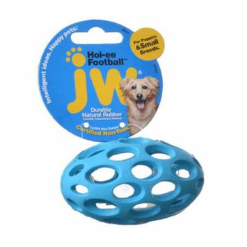 JW Pet Hol-ee Football Rubber Dog Toy Mini (3.75 Long) - Pack of 4