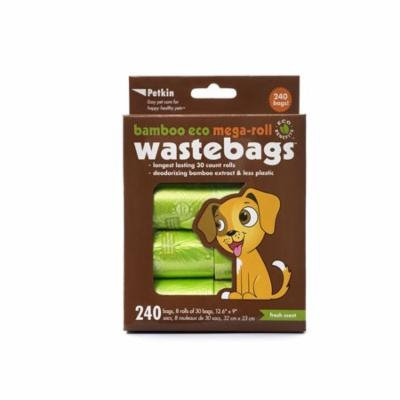 Petkin Bamboo Eco Mega-Roll Waste Bags - 240 count