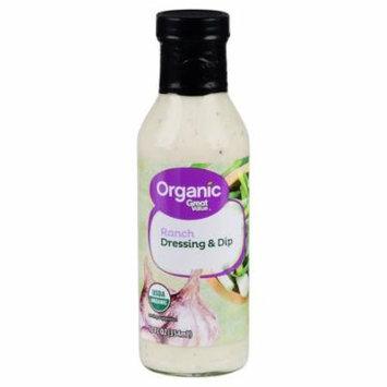 Great Value Organic Ranch Dressing & Dip, 12 fl oz