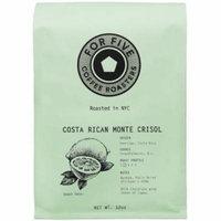 For Five Costa Rica Monte Crisol Whole Bean 12 oz