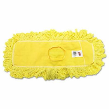 Trapper Commercial Dust Mop Looped-end Launderable 5 x 18 Yellow
