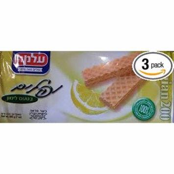 Alma Lemon Flavoured Wafers Belgian 7 Oz.- Pack Of 3.
