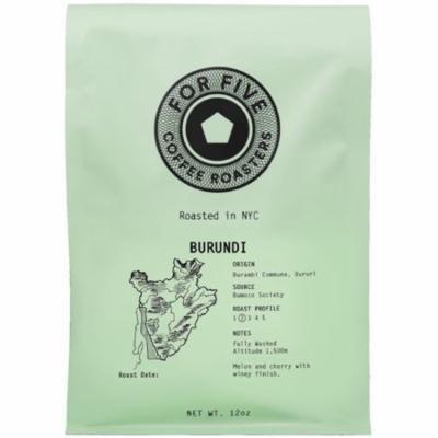 6 Pack - For Five Coffee Roasters Burundi Whole Bean 12 oz