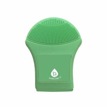 Pursonic Waterproof Advanced Silicone Exfoliating Facial Cleansing Brush, Green