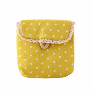 Mosunx Girl Cotton Diaper Sanitary Napkin Package Bag Storage Organizer YE