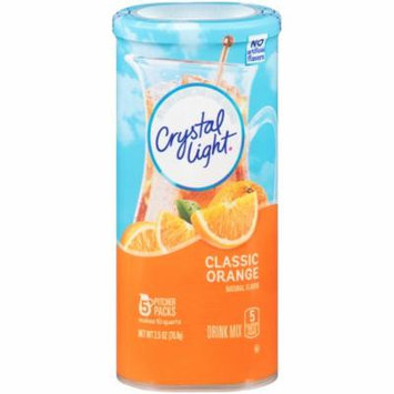 Crystal Light Classic Orange With Vitamin C & Calcium Drink Mix Pouch Pitcher, 2.5 oz, 5 Count (Pack of 12)