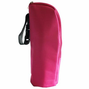 Mosunx Baby Thermal Feeding Bottle Warmers Mummy Tote Bag Hang Stroller Hot Pink
