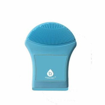Pursonic Waterproof Advanced Silicone Exfoliating Facial Cleansing Brush, Blue