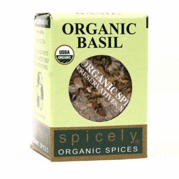 Spicely Organics Whole Basil Leaves, .1 Ounces