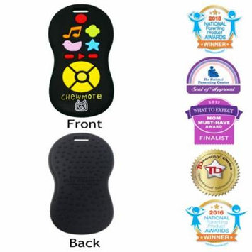 Silli Chews Unisex TV Remote Control Toy Chewmote Favorite Baby Teether Infant Silicone Teething Toy Black Chew Toys Cute Holiday Gift Stocking Stuffer Idea