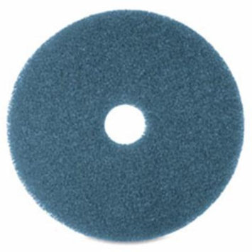 Floor Cleaning Pads, 12 in., 5-BX, Blue