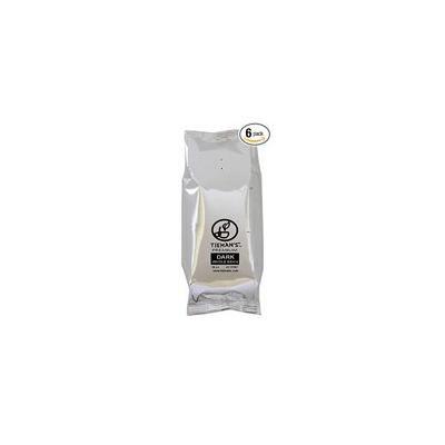 Tieman's Fusion Coffee, Low Acid Dark Roast, Ground, 10 Ounce (6 Pack)