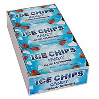 ICE CHIPS Xylitol Candy, Chocolate Brownie (6 Tins)