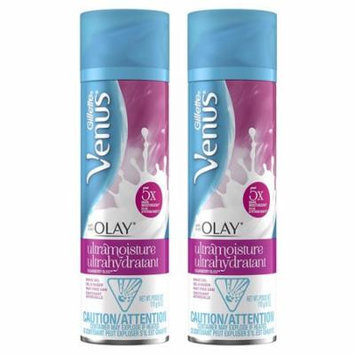 Gillette Venus with Olay Ultra Moisture Shave Gel, Bliss Sugarberry, 6 Ounce, 2 Pack
