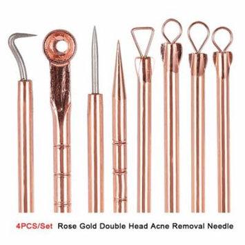Yosoo 4PCS/Set Stainless Steel Blackhead Acne Blemish Pimple Removal Needle Kit Tool