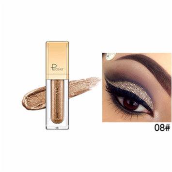 New Professional Diamond Pearl Liquid Eyeshadow 18 Colors Waterproof Shimmer Glitter Charming Eye Makeup (08#)