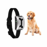 Waterroof 3 Modes Vibration or Shock Barking Control Training Collar with 7 Adjustable Sensitivity Control for Dogs CCGE