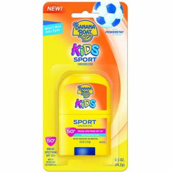 4 Pack - Banana Boat Kids Sport Broad Spectrum Sunscreen Stick with SPF 50 0.50 oz