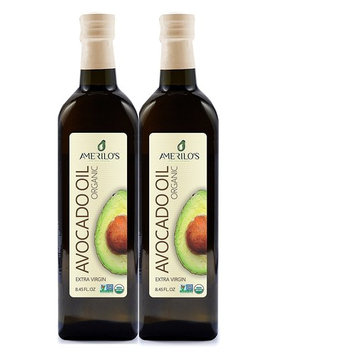 Amerilo's Organic Extra Virgin Avocado Oil, 8.45 oz (Pack of 2)