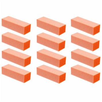 Professional High Quality Acrylic Nails Manicure Pedicure Buffing Buffer Block - Orange 60/60 Grit 12ct