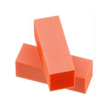 Professional High Quality Acrylic Nails Manicure Pedicure Buffing Buffer Block - Orange 100/100 Grit 2ct
