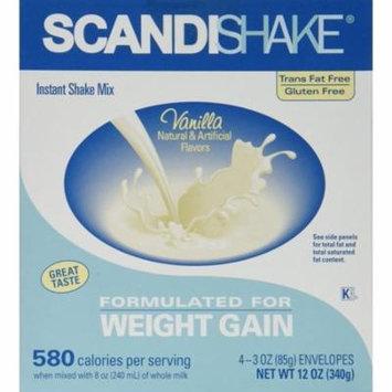 Scandishake Axcan Scandipharm Scandishake Instant Shake Mix, Vanilla 3 oz, 4 ea