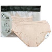 Rael Women's Organic Cotton Basic Panties (Natural)/Large - 1 Pack/ 3 Total