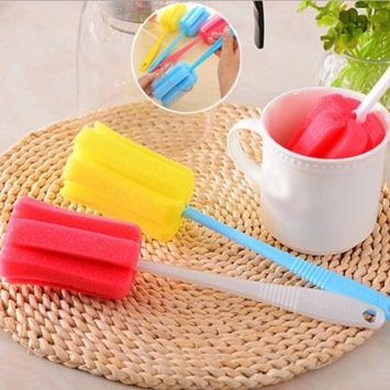 Womail 3PC Kitchen Cleaning Tool Sponge Brush For Wineglass Bottle Coffe Tea Glass Cup