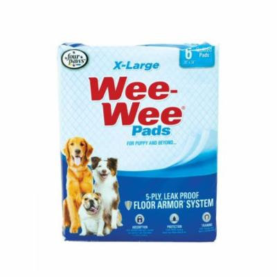 Four Paws X-Large Wee Wee Pads 6 Pack (28 Long x 30 Wide) - Pack of 3