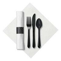 Hoffmaster Caterwrap (Linen-Like, White/Black). Model: 119990