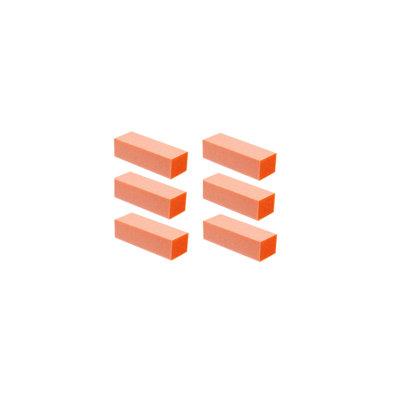 Professional High Quality Acrylic Nails Manicure Pedicure Buffing Buffer Block - Orange 80/80 Grit 6ct