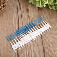 200 Pcs/Box Soft Interdental Brush Dental Floss Brush Disposable Teeth Stick