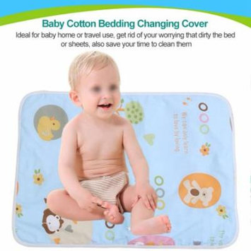 Bedding Changing Cover,Reusable Baby Cotton Urine Mat Diaper Nappy Bedding Changing Cover Pad(Blue paradise)