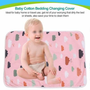 Bedding Changing Cover,Reusable Baby Cotton Urine Mat Diaper Nappy Bedding Changing Cover Pad(Cloud)